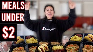 MEAL PREP on a BUDGET | EASY, HEALTHY and CHEAP recipes to use for the Corona Virus pandemic