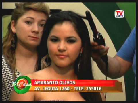 Peinado con unos Rizos de detalle Modelo Exclusiva Shirley Vidarte Cossio con Amaranto Olivos.