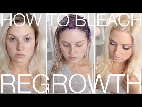 DIY Blonde Roots  How To Touch Up Regrowth At Home! Dye Blonde Hair