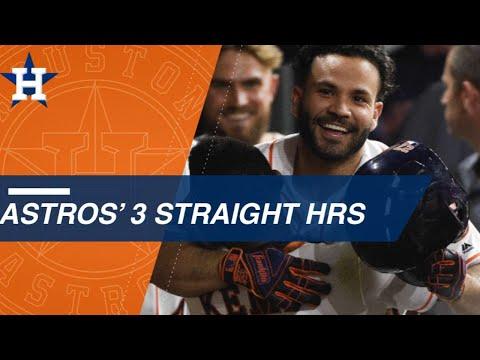 George Springer, Alex Bregman and Jose Altuve belt back-to-back-to-back home runs