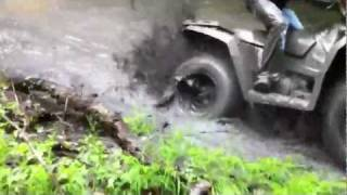 Polaris 400 HO sportsman mud bog short
