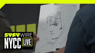 Jim Lee & Kim Jung Gi Dual Sketch Batman | NYCC 2018 | SYFY WIRE