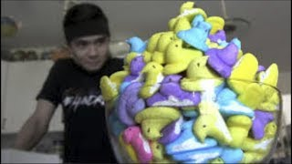 Man Eats 200 Peeps in One Sitting (World Record)