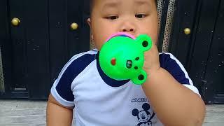 Đồ chơi trẻ em bé pin thổi kèn hình gấu ❤ PinPin TV ❤ Baby toys trumpet bear
