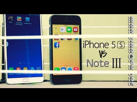 Galaxy Note 3 vs iPhone 5s (Velocidad) Educativo