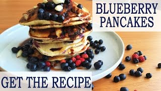 ✿ How to make BLUEBERRY PANCAKES | Quick and Easy recipe | American Pancakes