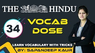 Vocab Dose - The Hindu : Learn Vocabulary with Tricks (Day - 34)