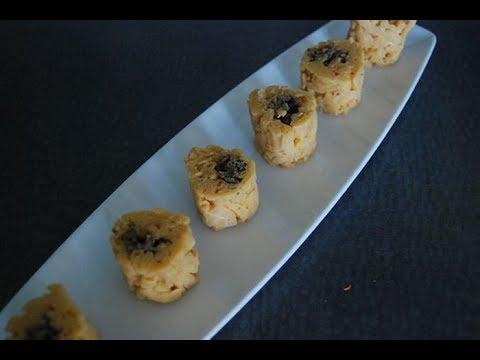 Приготовление суши роллов из макарон и сыра