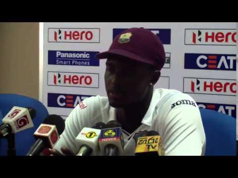 Angelo Mathews, Milinda Siriwardana & Jason Holder at Post Match Press Conference - 2nd Test