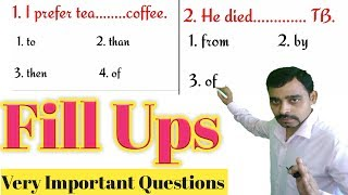 English grammar important fill ups for board exams by yashpal sir |vleads