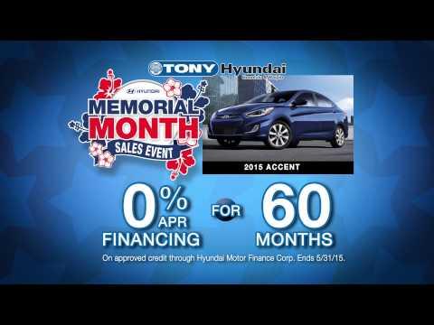 Tony Hyundai's Memorial Month-Long Sales Event