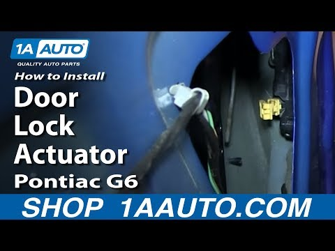 How To Install Replace Door Lock Actuator 2005-10 Pontiac G6