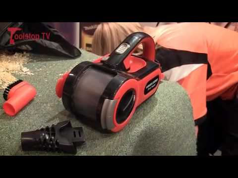 Demo of Black & Decker PAV1205 12V Pivot Automotive Vacuum @ The Caravan Show