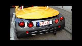Renault Sport Spider - Startup and small accelerations!