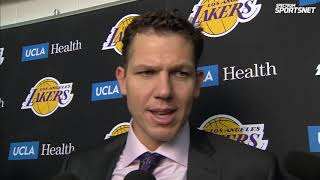 "Luke Walton On Lebron's 51 - ""It's Nice Having The Best Player In The World"""