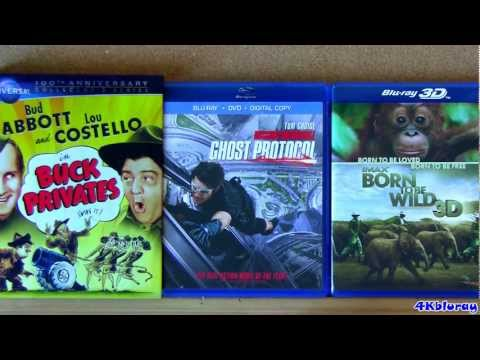 Buck Privates blu-ray, Mission Impossible 4 and Imax Born to be Wild blu ray