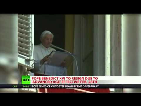 BREAKING NEWS: Pope Benedict XVI to resign,MEMORABLE MOVEMENTS OF POPE .flv