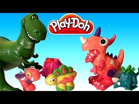 Play Doh Chomposaurus Dinosaur T-Rex Toy Story Rex Disney Pixar Jurassic Animals Playset Toy Review