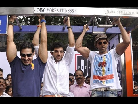 Hrithik Roshan Flexes At Dino Morea's Fitness Launch