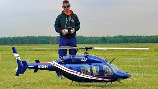 HUGE RC BELL-429 VARIO SCALE MODEL ELECTRIC HELICOPTER FLIGHT DEMONSTRATION