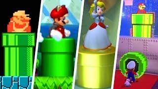 Evolution of Warp Pipes in Super Mario Games (1985 - 2019)