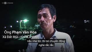 Sạt lở trong đêm nhấn chìm 3 căn nhà ở Cà Mau