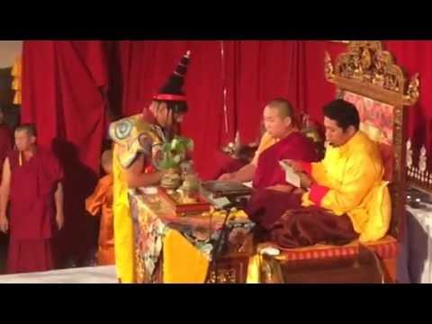Trijang Choktrul Rinpoche giving Yamantaka initiation in Mongolia (Septermber 2014)