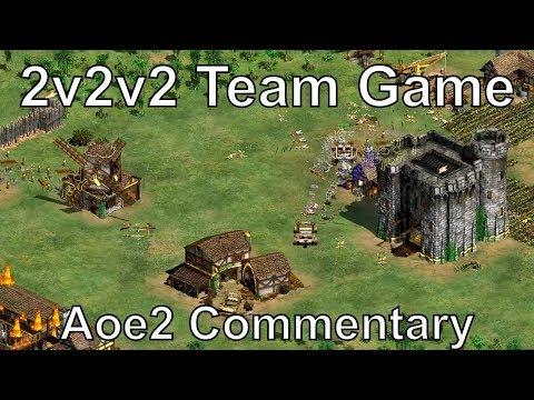 Aoe2 3 Way Team Game 2v2v2