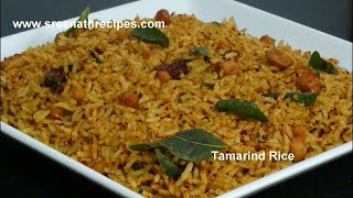 Tamarind Rice-Puliodharai-Puliyogare-Quick Lunch box recipe