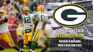 Green Bay Packers | Regular Season | Packers @ Redskins Reaction (LIVE)