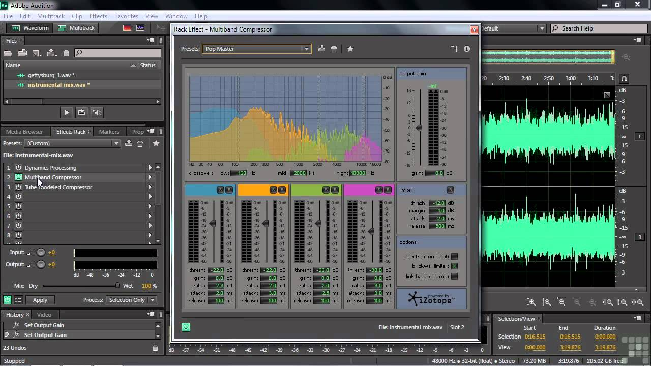 adobe audition cs6 tutorial working with the compressor. Black Bedroom Furniture Sets. Home Design Ideas