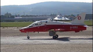 Dassault Mirage 2000 and BAE Hawk Swiss Turbine Model RC Jet Family Day 2017