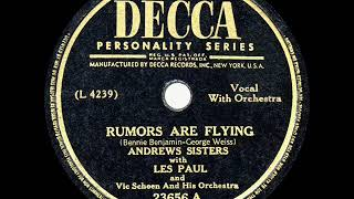 1946 HITS ARCHIVE: Rumors Are Flying - Andrews Sisters & Les Paul
