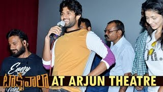 Vijay Deverakonda Hungama with Fans | Taxiwaala Team at Arjun Theater | Priyanka Jawalkar | SKN