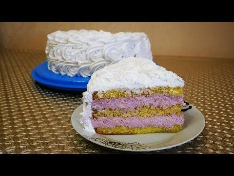 ЛЕТНИЙ торт ЯГОДНАЯ МАГИЯ нежный , легкий и очень ВКУСНЫЙ