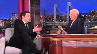 Jake Johnson David Letterman Interview