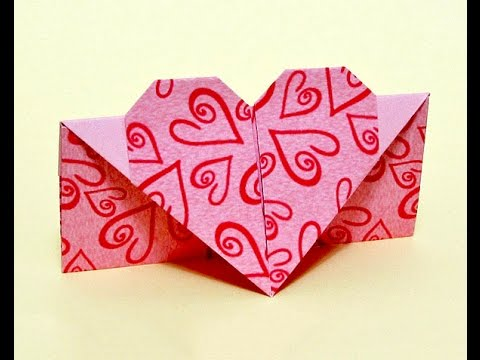 Easy Envelope With Heart. Ideas For Gift.  Origami Envelope.