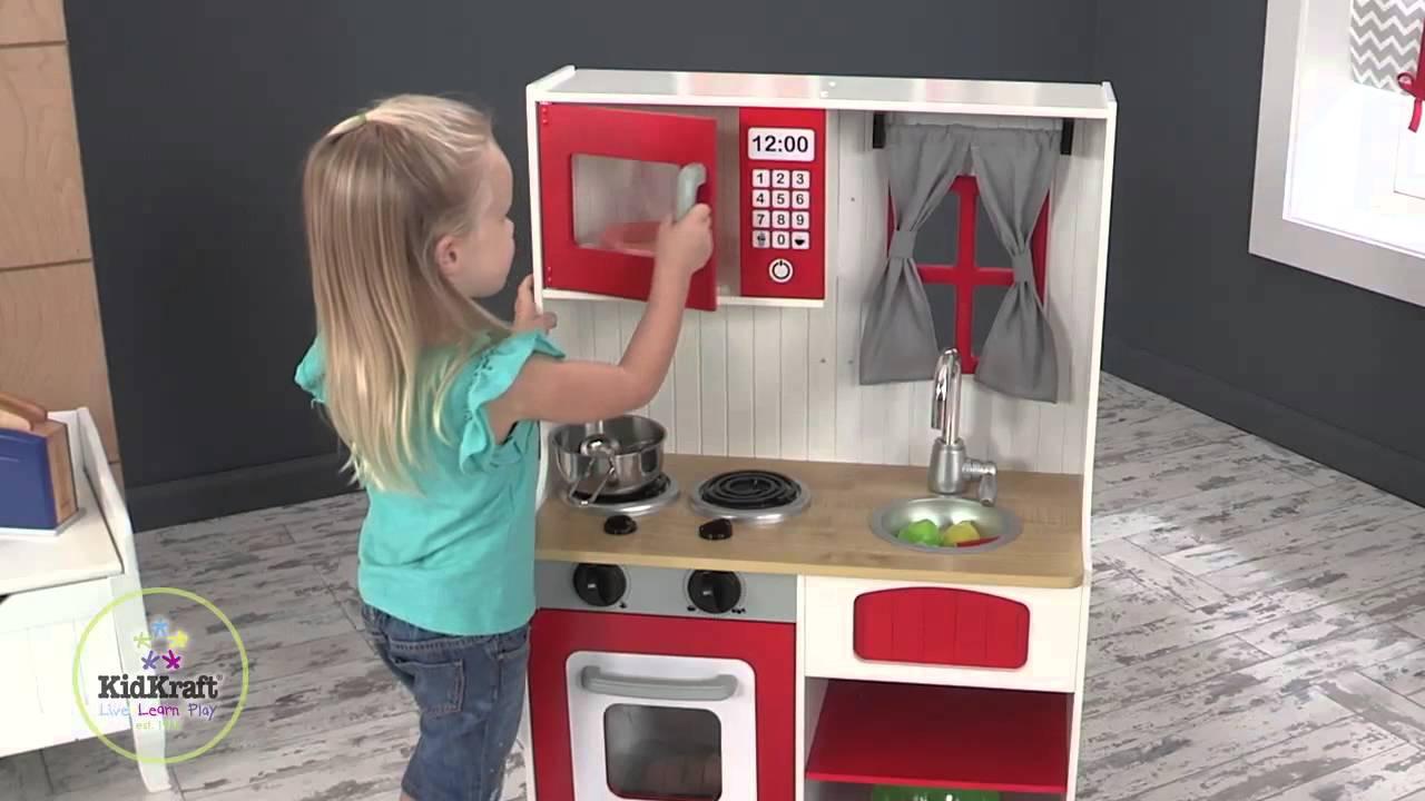 Kidkraft cuisine en bois de campagne rouge au meilleur - Avis cuisine kidkraft ...