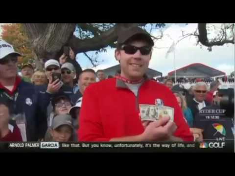 reto al campeon desde el publico y esto es lo que paso en un campo de golf