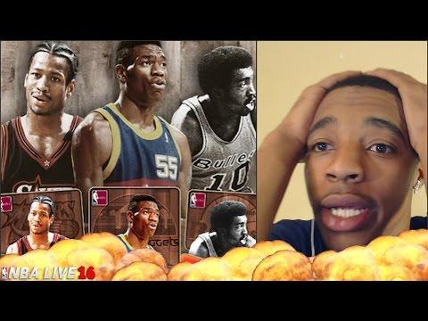 SENSATIONAL NBA Live 16 Ultimate Team THROWBACK THURSDAY PULLS!