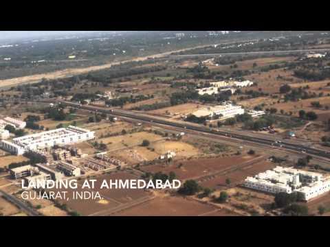 Landing at Ahmedabad Airport