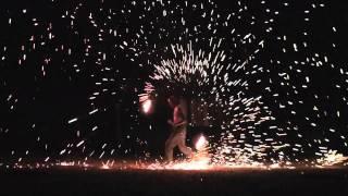 HD Sparkle Poi_Steel Wool Poi