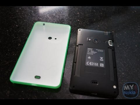 How to Remove Back Cover on Lumia 625 & Insert Sim/Micro SD Card