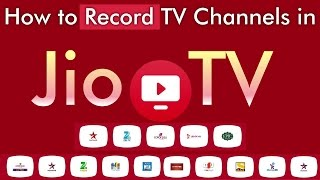 How to Record TV Channels in Jio TV App   JioTV App Recording   Jio TV Recorder
