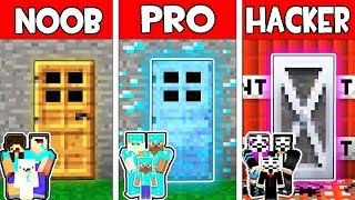 Minecraft - NOOB vs PRO vs HACKER : FAMILY SECRET DOOR in Minecraft Animation