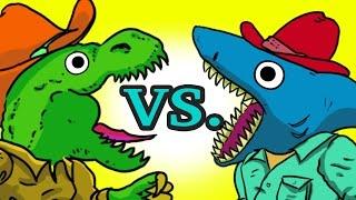 """My Cute Shark Attack Cartoon #17 (Old McDonald Dino Cowboy vs. Shark!! +BEST OF!!) kids cartoons!"