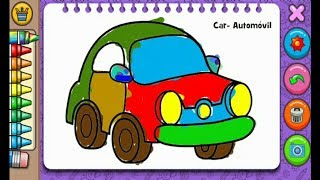🚜 Car Super Paint For Kids Coloring Page 🚒 Baby Game's 🚌🚌🚌