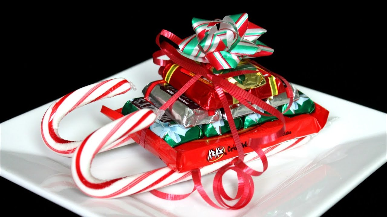 Christmas Candy Cane Sleigh How To Youtube