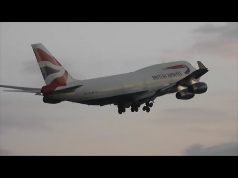 Evening Heavies at London Heathrow Airport   31/07/14