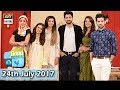Good Morning Pakistan - Guest: Cast of Drama Serial Ghairat - 24th July 2017